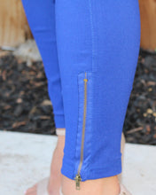 ALL EYES ON YOU MOTO LEGGINGS-COBALT BLUE