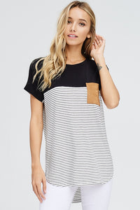 LUCKY POCKET STRIPED TOP