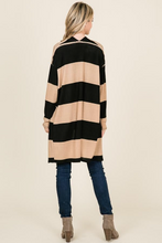 FRANCHESCA COLOR BLOCK POCKETED CARDIGAN