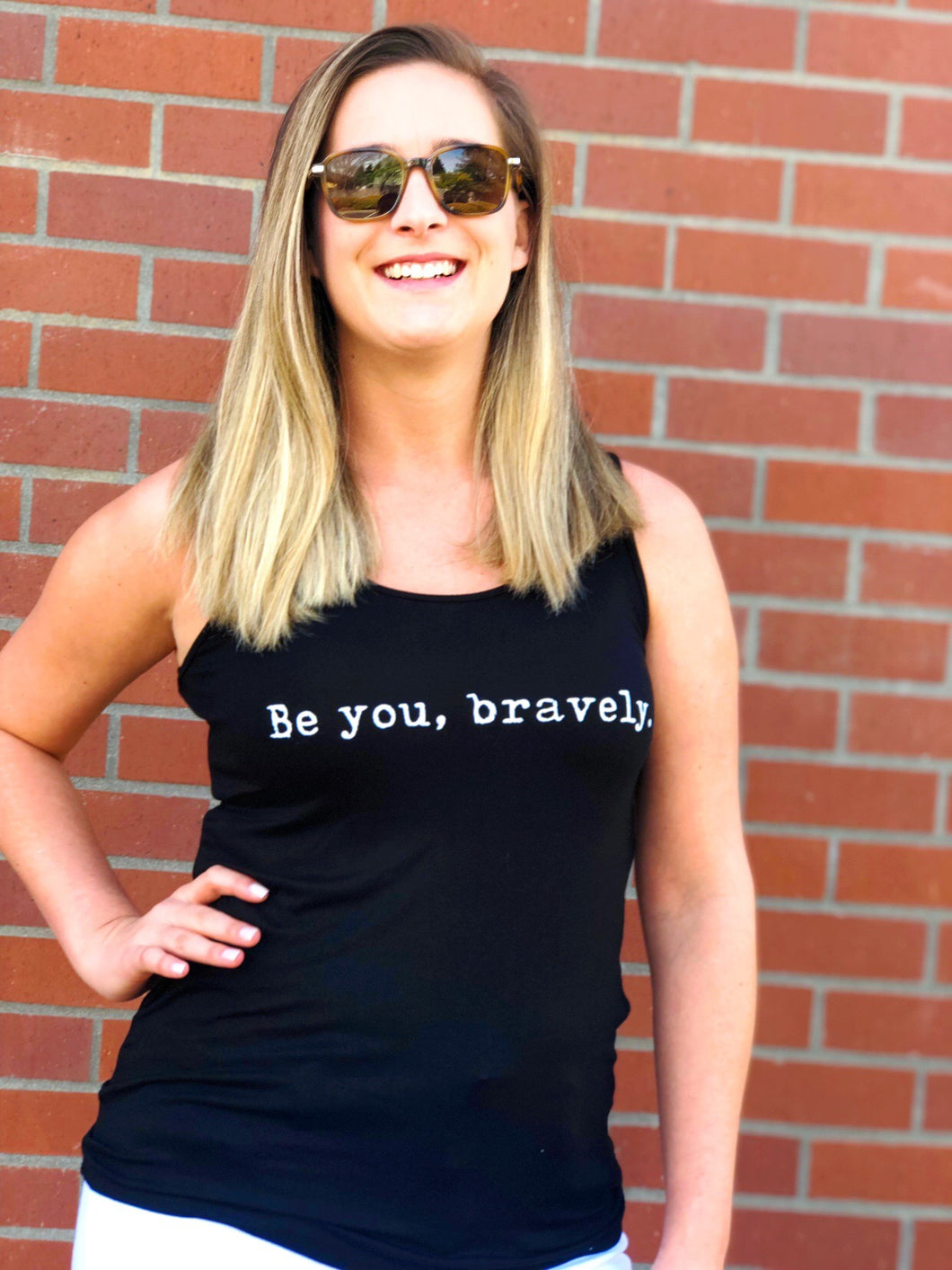BE YOU BRAVELY TANK-BLACK