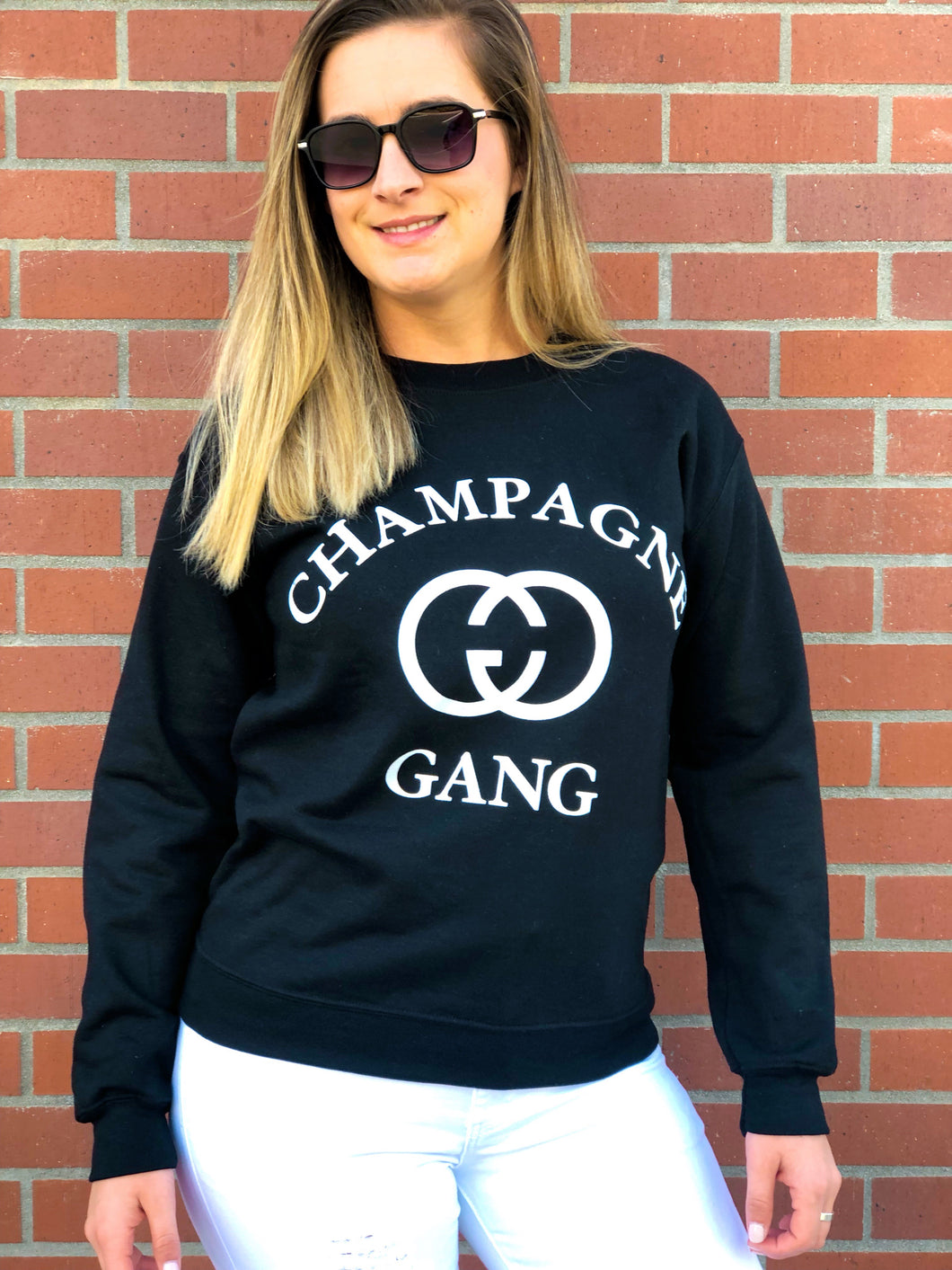 CHAMPAGNE GANG PULLOVER