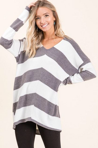 BOSTON PROPER STRIPED SWEATER