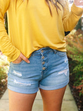 TAKE ME TO THE BEACH DENIM SHORTS