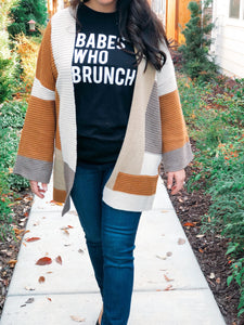 BABES THAT BRUNCH DISTRESSED TEE