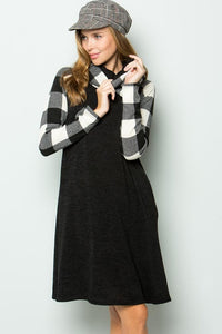 STELLA TURTLENECK POCKETED DRESS