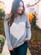 KNIT HEART SWEATER