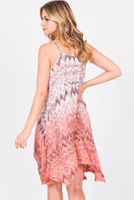 CHELSEY CHEVRON OMBRE DRESS