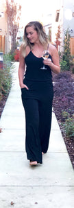POCKETED SWEETHEART TANK JUMPSUIT