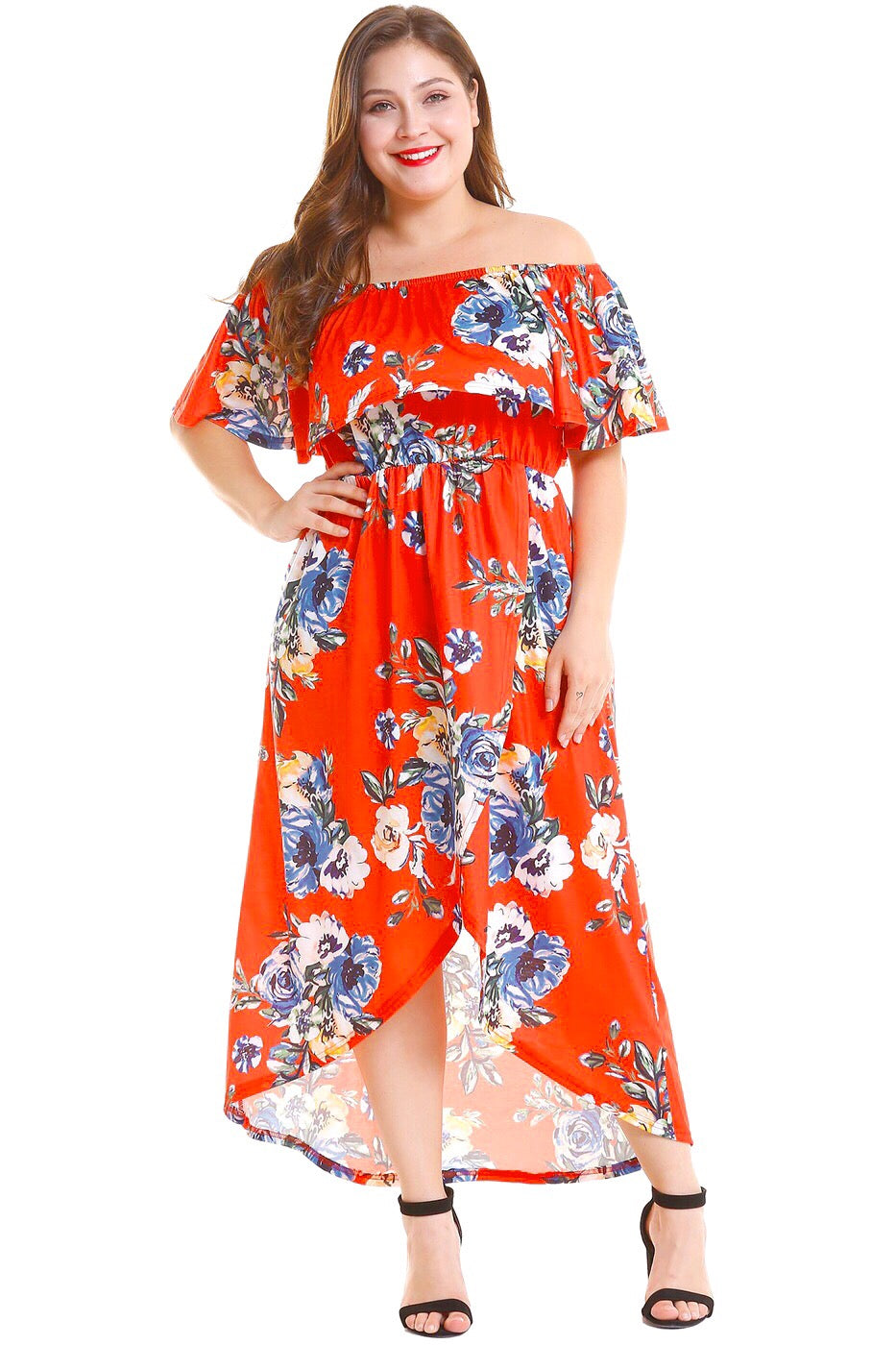 SHE OWNED IT OFF THE SHOULDER FLORAL DRESS