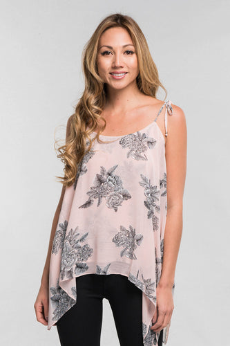 BURST INTO BLOOM CHIFFON TOP