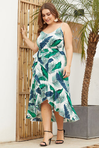 TROPICAL VIBES PRINTED DRESS