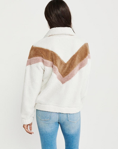 WARM AND FUZZY FEELING ZIPPER PULLOVER