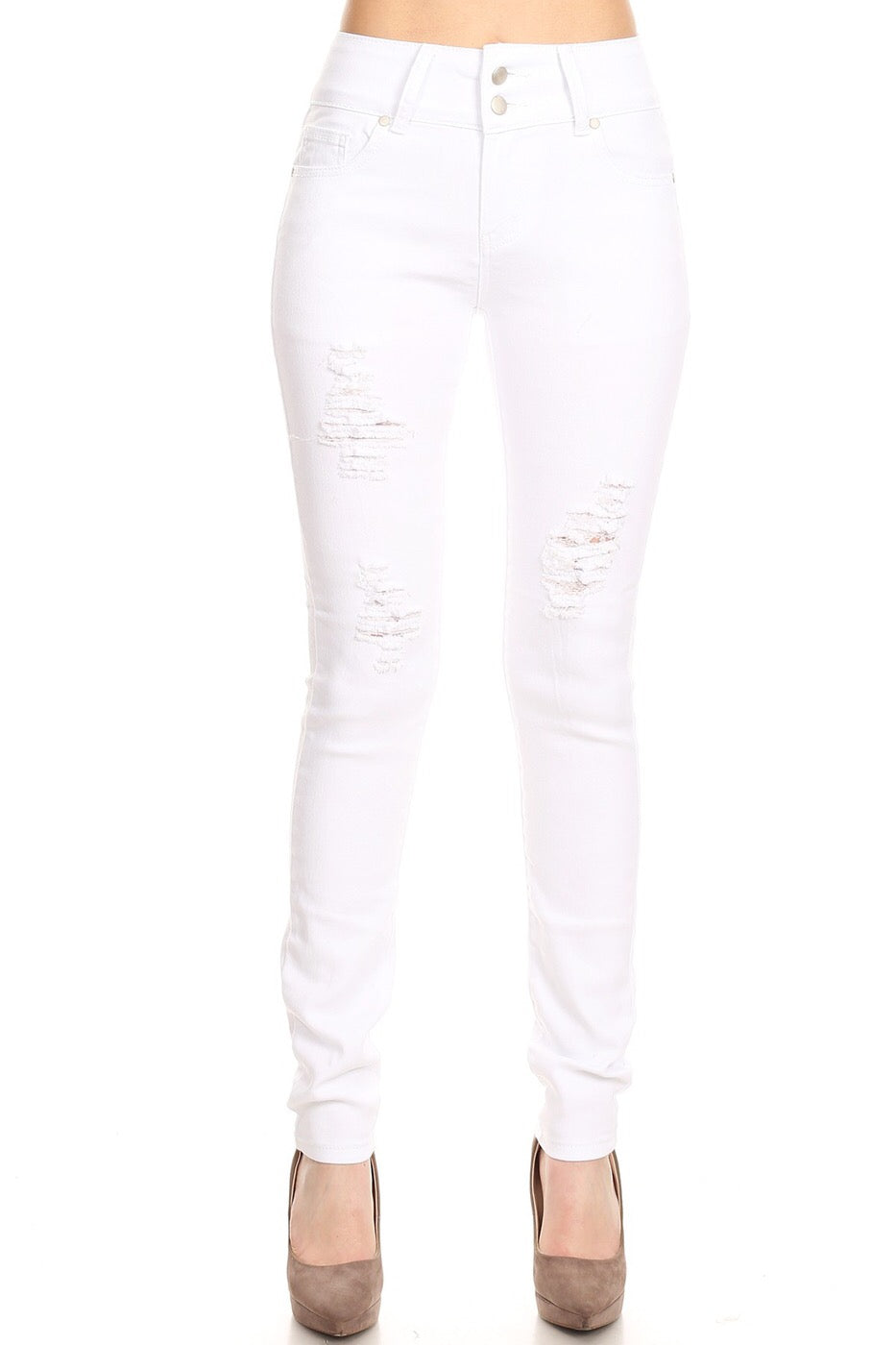 BROOKLYN ESTATE SKINNY WHITE DENIM