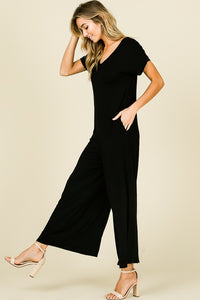 X MARKS THE SPOT POCKETED JUMPSUIT