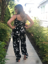 SAIL AWAY SLEEVELESS FLORAL JUMPSUIT-BLACK