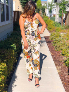 SAIL AWAY SLEEVELESS FLORAL JUMPSUIT-WHITE