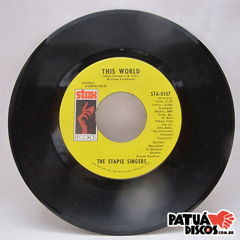 The Staple Singers - Are You Sure / This World - 7""