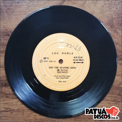 Lou Rawls - Lady Love / Not The Staying Kind - 7""