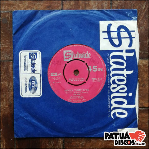Dawn/Richard Marks - Knock Three Times / Funky Four Corners (Instrumental) - 7''