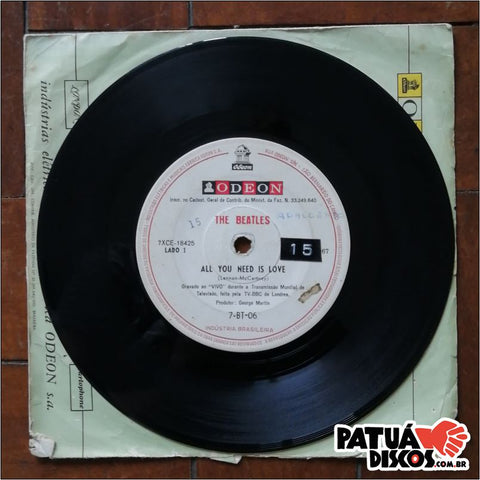 The Beatles - All You Need Is Love / Baby You're A Rich Man - 7""