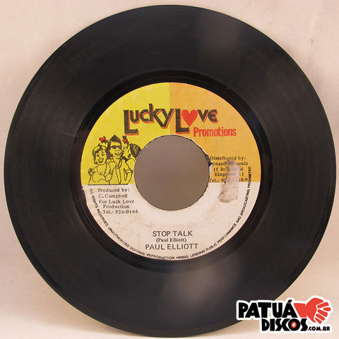 Paul Elliott / The Marathon - Stop Talk / Version - 7""