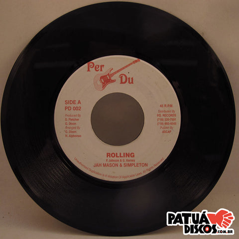 Jah Mason & Simpleton - Rolling / Version - 7""