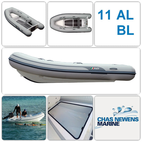 AB Inflatables Lammina 11 AL BL Aluminium 11ft RIB Dinghy - WITH Bow Locker