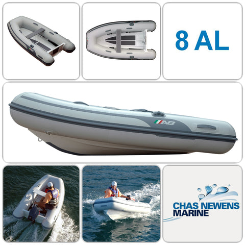 AB Inflatables Lammina 8 AL 8.5ft / 2.56m Aluminum Tender / RIB PLUS Mariner 2.5 hp 4 stroke Engine