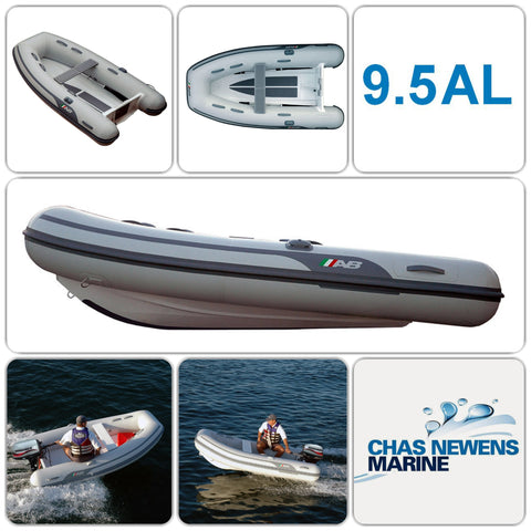 AB Inflatables Lammina 9.5 AL 9.5ft RIB Dinghy with Mariner 6 HP Engine - WITHOUT Bow Locker