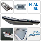 AB Inflatables Lammina 14 AL BL Aluminium 14ft RIB Dinghy - WITH Bow Locker