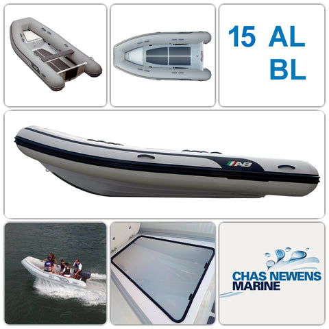 AB Inflatables Lammina 15 AL BL Aluminium 15ft RIB Dinghy - WITH Bow Locker