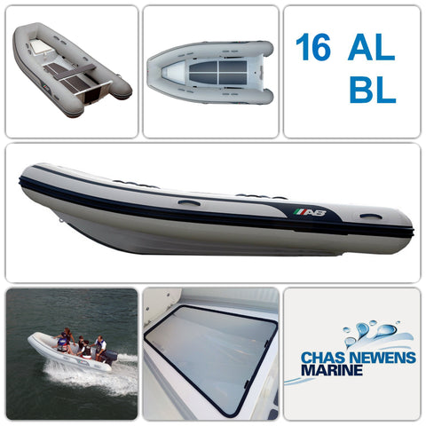 AB Inflatables Lammina 16 AL BL Aluminium 16ft RIB Dinghy - WITH Bow Locker