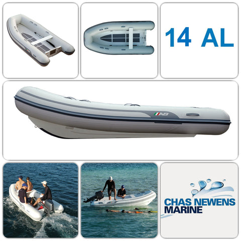 AB Inflatables Lammina 14 AL  Aluminium 14ft RIB Dinghy - WITHOUT Bow Locker