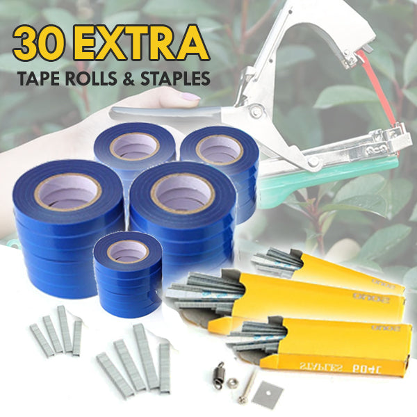 30 Tape Rolls & Box of Staples for TrellisClaw® Tapetool