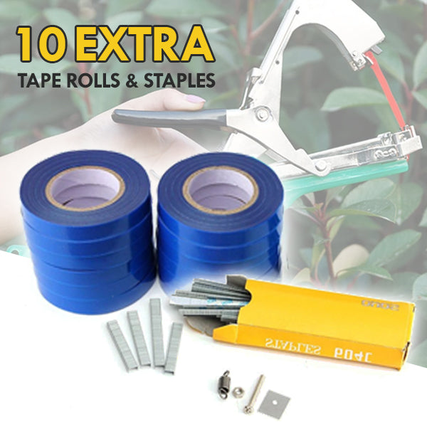 10 Tape Rolls & Box of Staples for TrellisClaw® Tapetool