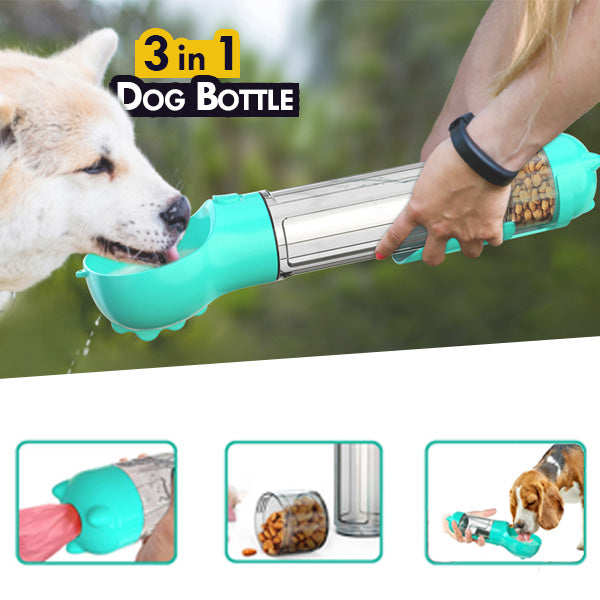 3 in 1 Dog Walking Bottle