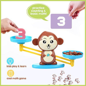 """<strong style=""""color: #ff4100;""""> Monkey Balance®</strong> Educational Math Toy"""