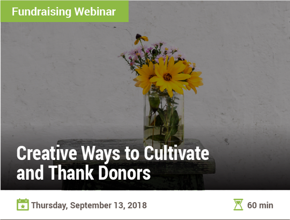 Creative Ways to Cultivate and Thank Donors