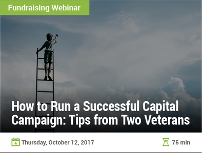 How to Run a Successful Capital Campaign: Tips from Two Veterans
