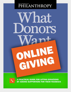 What Donors Want: Online Giving