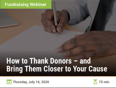 How to Thank Donors – and Bring Them Closer to Your Cause