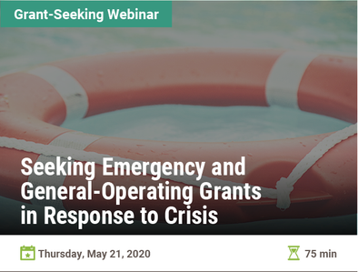 Seeking Emergency and General-Operating Grants in Response to the Crisis