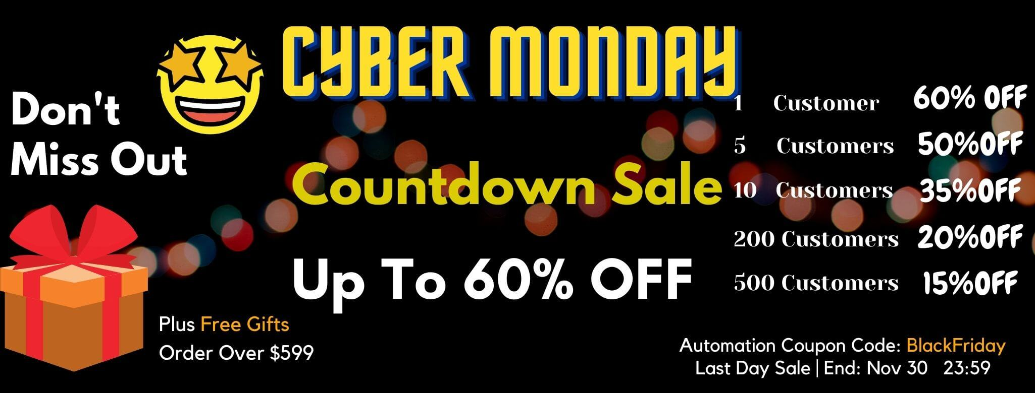 7PMHOME Cyber Monday Countdown Sale