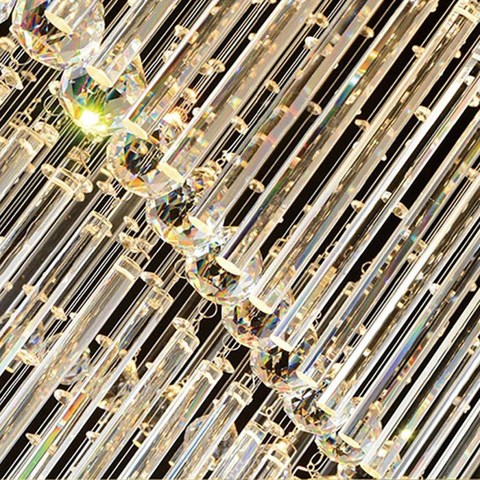 Square Raindrop Crystal Chandelier For Staircase