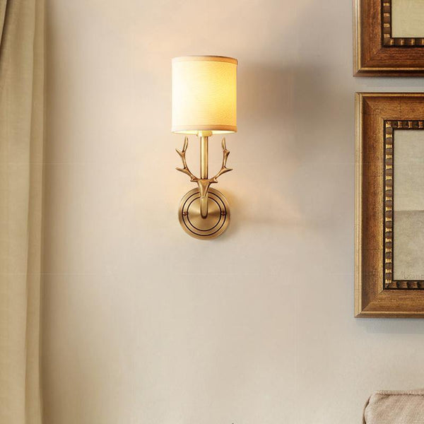 7PM Lore Wall Lamp Brass Finish - 7PM LIGHTING