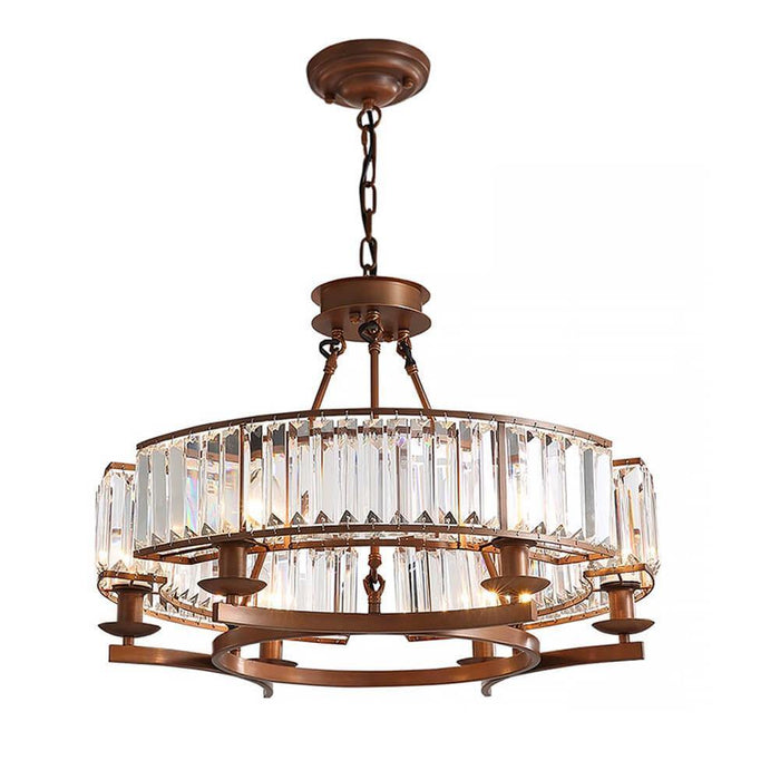 Industrial Farmhouse Crystal Chandelier - 7PM LIGHTING