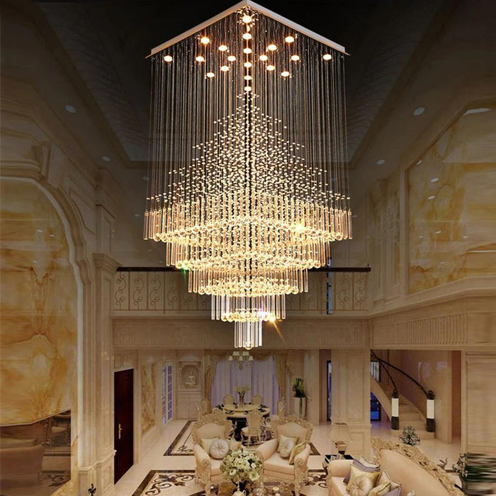 Raindrop Crystal Chandelier Flush Mount - 7PM LIGHTING
