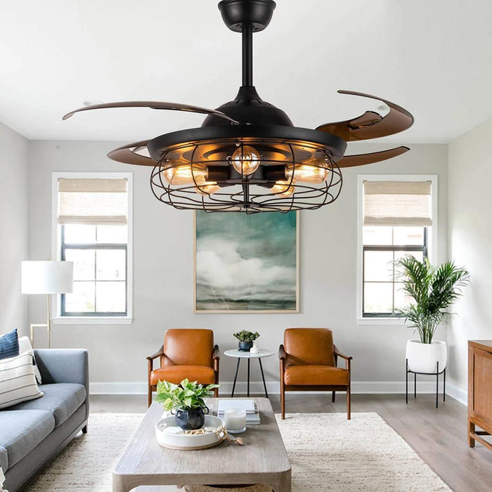Chandelier Ceiling Fan Industrial Design