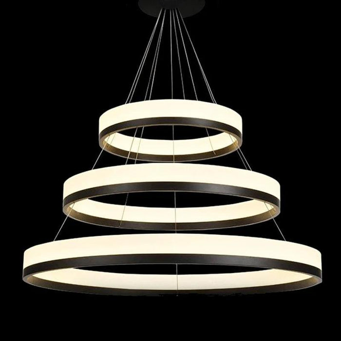 Ring Hanging Light With LEDs