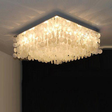 "7PM W20"" X H14"" Square Seashell Chandelier - 7PM LIGHTING"